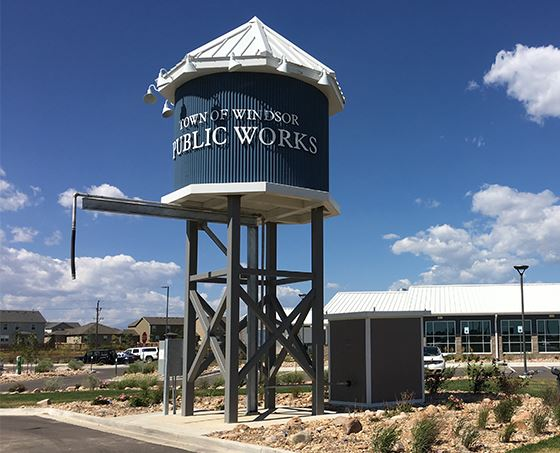 Public Works Water Fill Station at Windsor's Public Services Campus