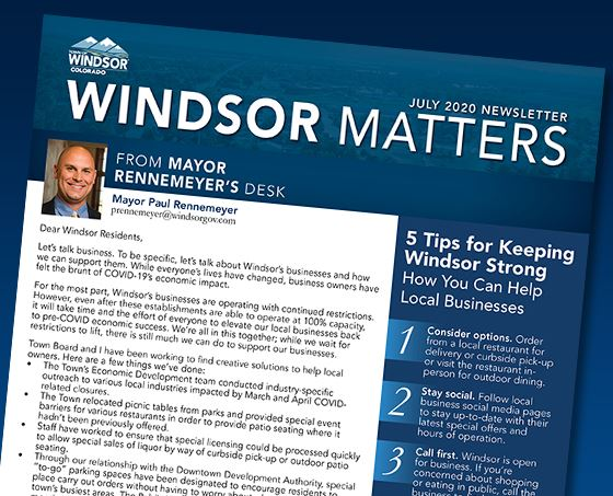 July 2020 Windsor Matters Newsletter Cover