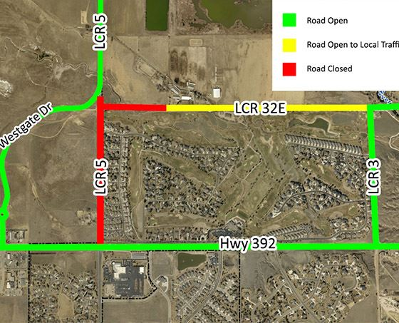 Larimer County Road 5 Detour Map